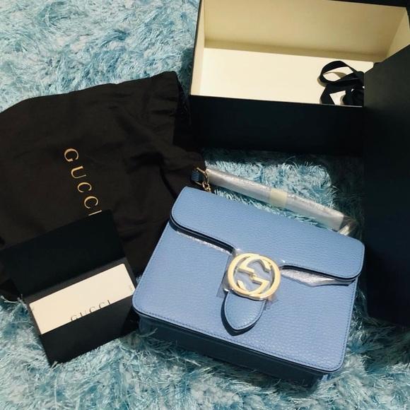 af3e4c769 Gucci Bags | Bn Interlocking G Buckle Leather Bag 510304 | Poshmark